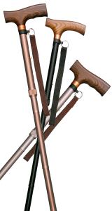 アルミ軽量折りたたみ杖 伸縮タイプ